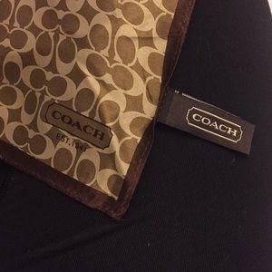 """COACH """"C"""" signature pattern silk scarf"""